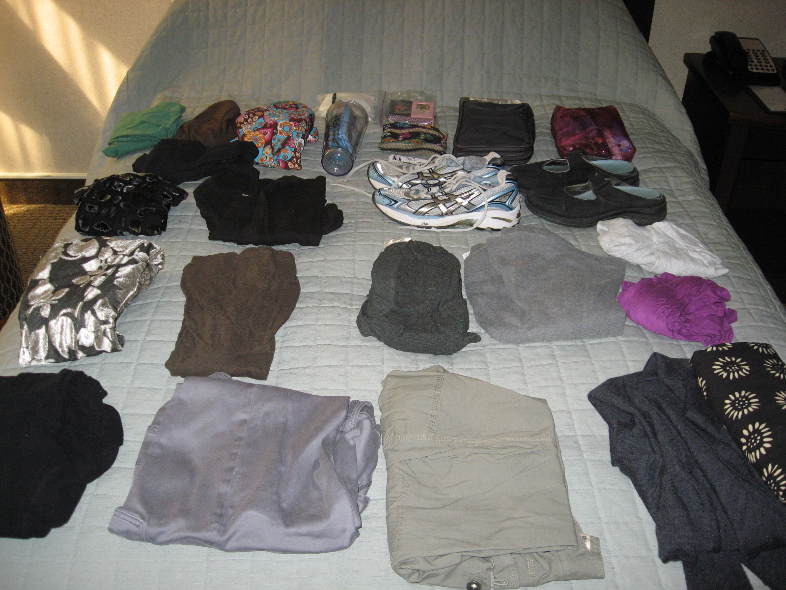 contents of suitcase