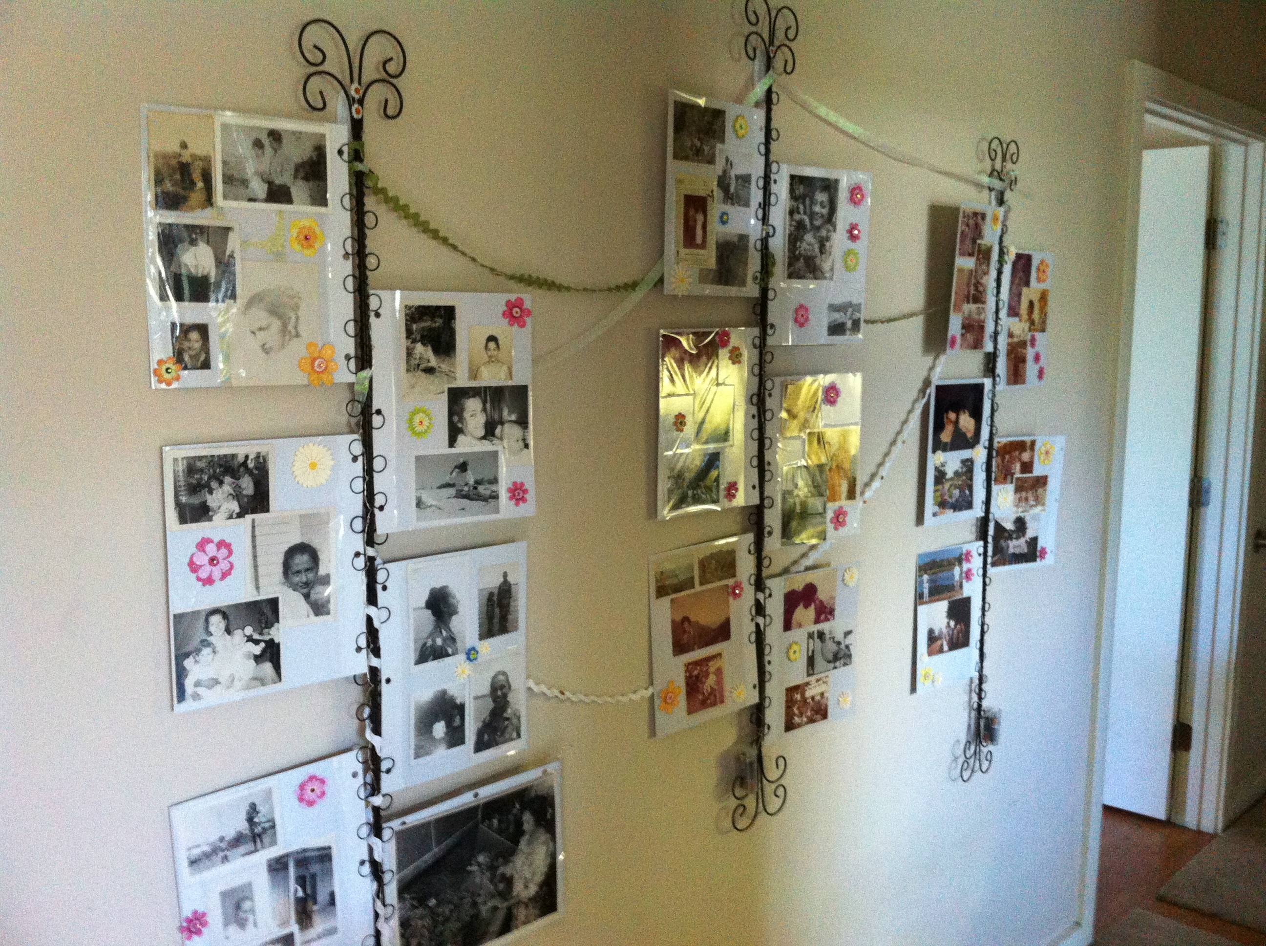 the photos are mounted in album sheets, so they can all go into an album after the party is over.