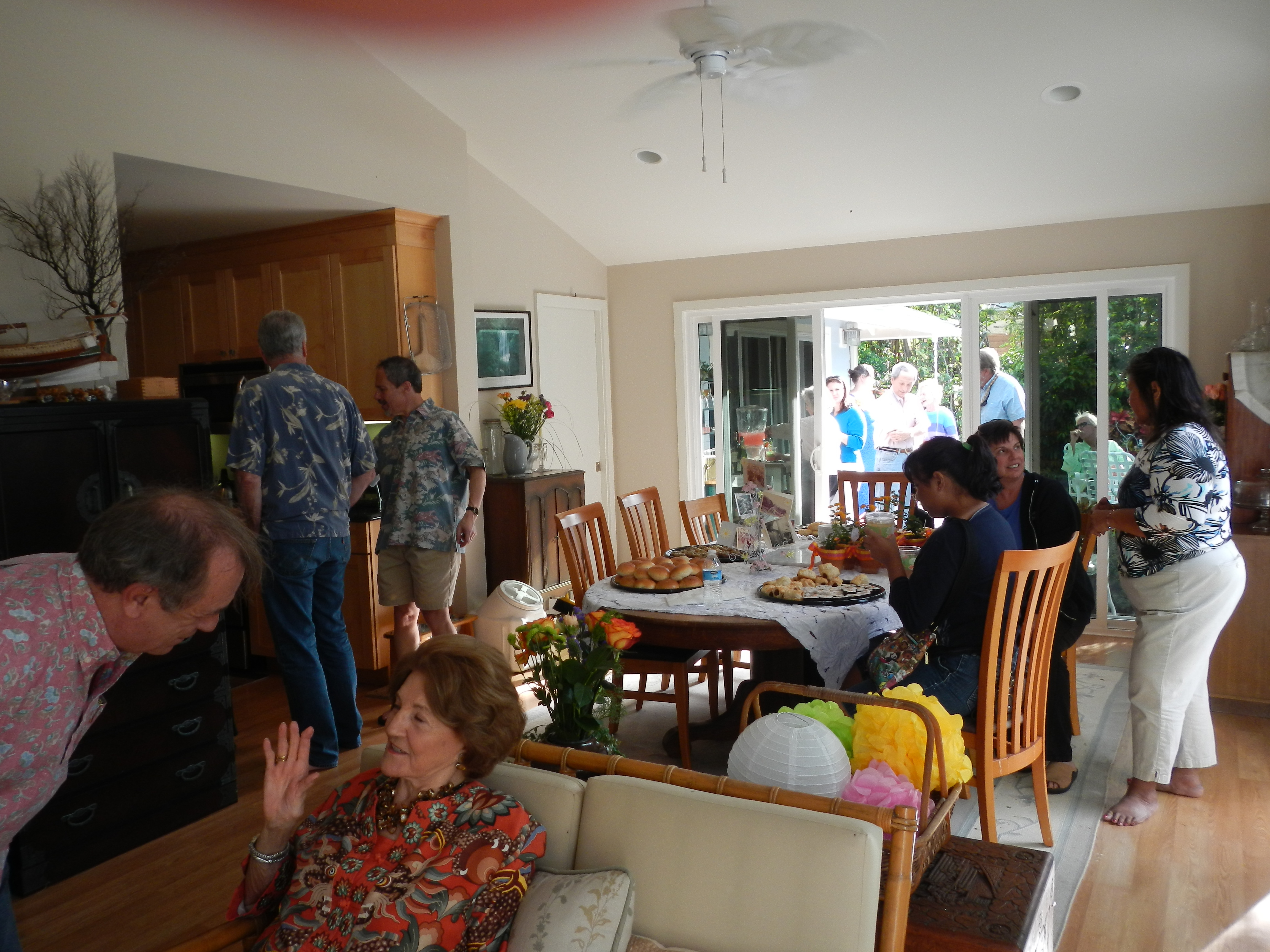 and mom got what she wanted, a house full of friends enjoying each others company.