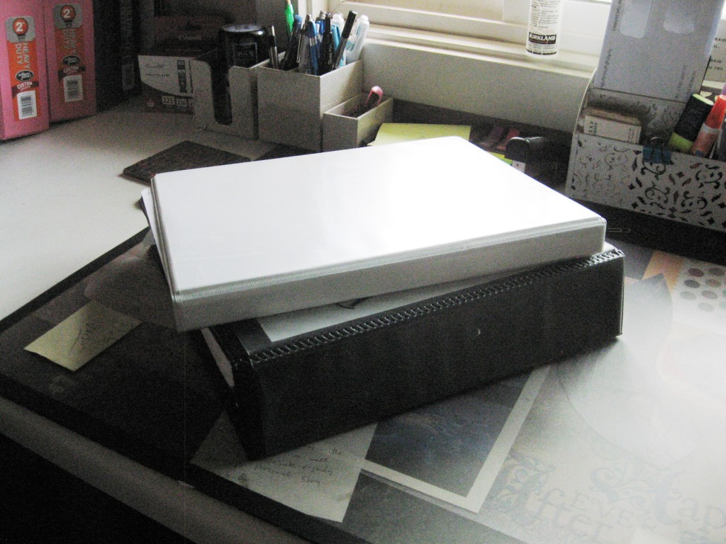 seriously, which binder would you rather flip through when you're rejigging the plot?