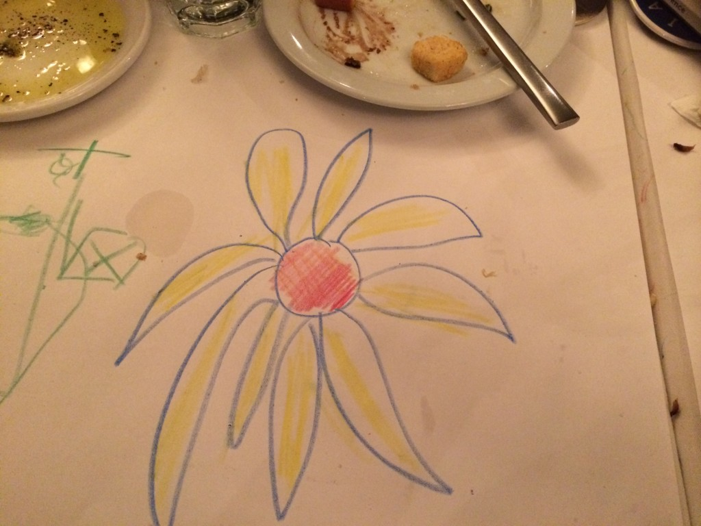 yellow flower with bread plate