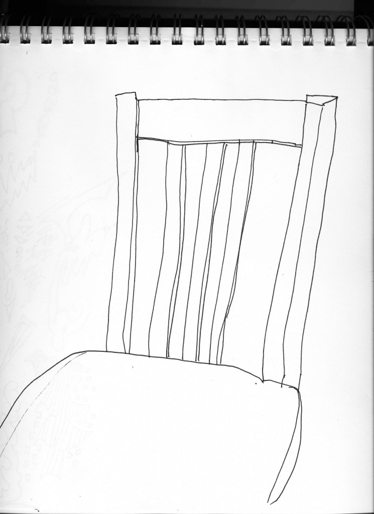 I like how this simple contour of our kitchen chair came out.