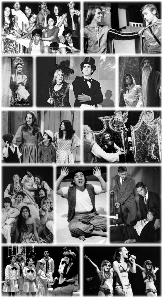 publicity shots from many of the McKinley Theatre Group productions over the years