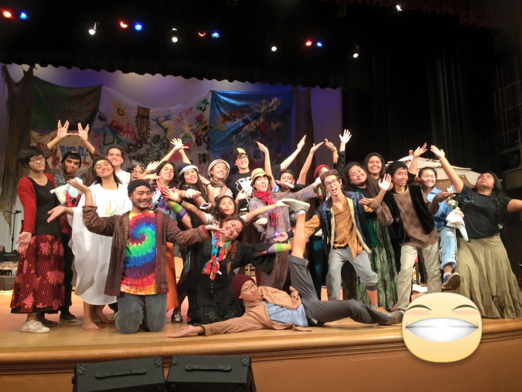 "Our wonderful, talented, amazing cast of ""Godspell JR."""